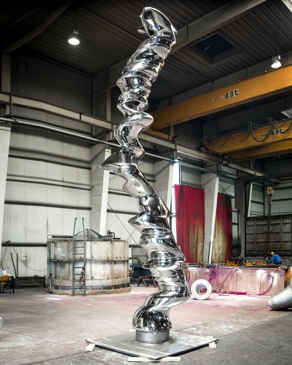Skulptur Lugano von Tony Cragg.