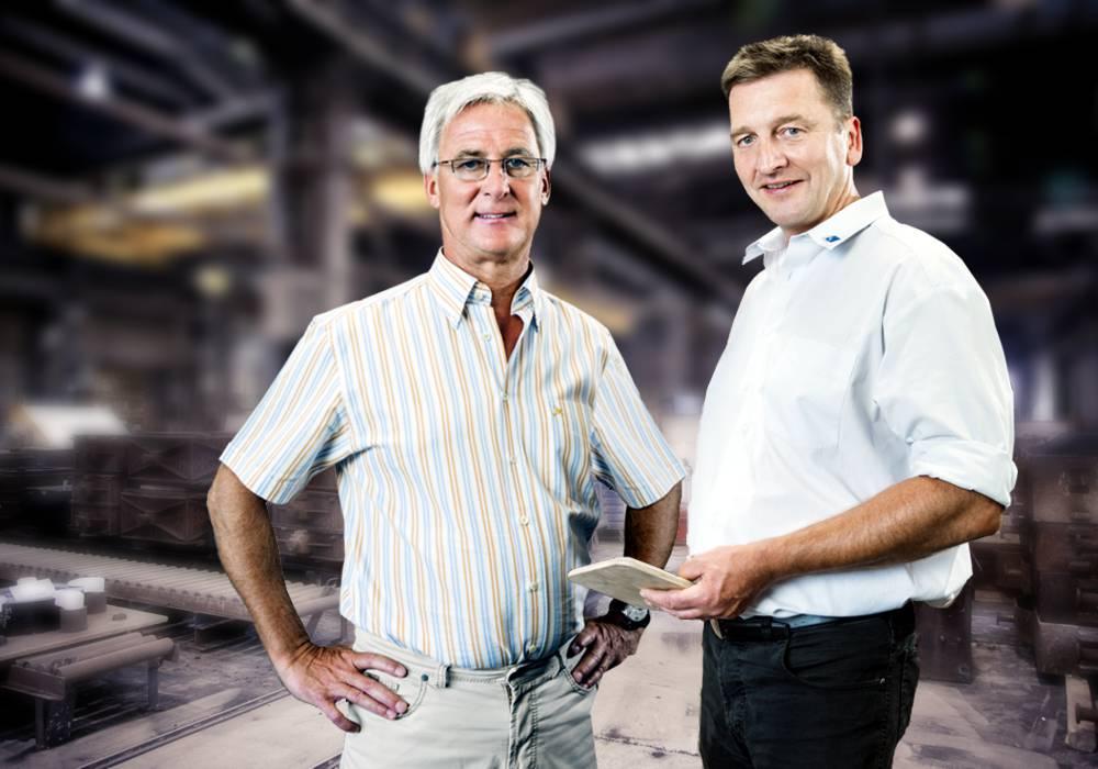 Clemens Schmees und Johann Unglaub (Re.)
